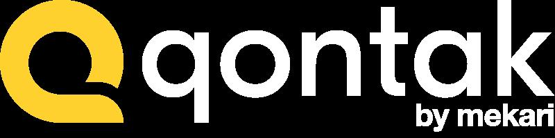 Qontak logo on the blue